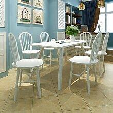 Lingjiushopping 6Stück Stühle Esstisch rund