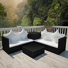 Lingjiushopping Set Sofa Gartenmöbel Polyrattan