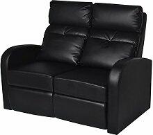 Lingjiushopping Sofa 2Sitzer Leder Künstliche