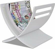 Lingjiushopping Zeitungsständer aus Holz für
