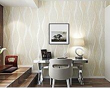 LINGJUN-tapete,Vlies Tapete,modern 3D gestreifte tapeten Rolle Wandtapete Dekoration 10M für schlafzimmer wohnzimmer (cremig weiß)