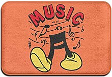 LINGLIII Musik Cartoon Logo Fußmatte Outdoor die