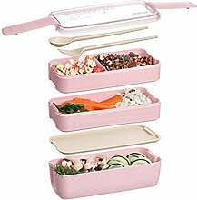LINGNING 3-lagige Lunchbox Mikrowelle Japanische