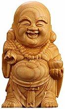 LINGS Chinesische Feng Shui Dekor Gelb Pappel Holz