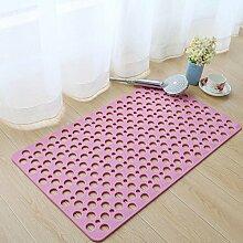 Lingyun Umweltfreundliches Material / Antirutschmatte / Badematte / Fuß-Matte / rechteckige Matte / Stärke: 0.7cm ( Farbe : 2# , größe : 60*90CM )