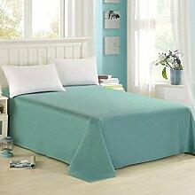 LINGZHIGAN Baumwoll-Twill-Bett-Bettwäsche Solid Color Einfache Studenten-Schlafsaal-Tagesdecken ( Farbe : Dunkelgrün , größe : 200*230cm )