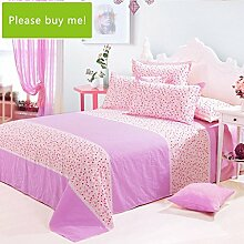 LINGZHIGAN Baumwollbettwäsche Einzelstück 1.2 Meter Einzelbett Studenten Schlafsaal 160 * 230cm ( Farbe : B )