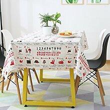 LINGZHIGAN Baumwolle Hanf Tischdecke Stoff Kunst Einfache rechteckige Teetabelle Hochzeit Restaurant Party Tisch (Dieses Produkt verkauft nur Tischtücher) ( größe : 140*220cm )