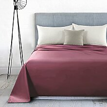 LINGZHIGAN Bettwäsche Cotton Einzelstücke Solid Color Einfache Einzelbett-Doppelbett Hotel Student Dormitory Tagesdecken ( Farbe : Weinrot , größe : 160*230cm )