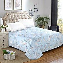 LINGZHIGAN Blue Flower Pattern Bettwäsche Einzelstück Baumwolle Herbst und Winter Single oder Double 1.2m 1.5m 1.8m Bett Modern Simple Bed Sheet ( größe : 250*230cm )