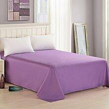 LINGZHIGAN Cotton Twill Bettwäsche Lila Solid Color Einfache Student Schlafsaal Tagesdecken ( größe : 160*230cm )