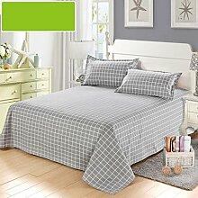 LINGZHIGAN Grau gestreiftes Gitter grobes Tuch Bett Bettwäsche Baumwolle dickes Doppelbett Bettwäsche Anwendbar auf 1.5m1.8m2.0m Bett ( größe : 200*230cm )
