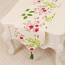 LINGZHIGAN Grün Rosa Blumenmuster Tuch