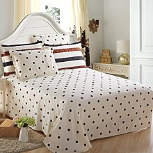 LINGZHIGAN Pattern Cotton Twill Thicker Bett Bettwäsche Einzelstück Student Schlafsaal Bettdecken Druck Doppelbett Bettwäsche ( größe : 230*250cm )
