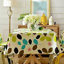 LINGZHIGAN Pflanze Blattform Tischdecke Stoff Art Einfache rechteckige Teetabelle Hochzeit Restaurant Party Tisch (Dieses Produkt verkauft nur Tischtücher) ( größe : 100*160cm )