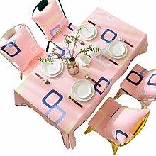 LINGZHIGAN Pink Lattice Tischdecke Stoff Art Einfache rechteckige Tee Tisch Hochzeit Restaurant Party Tisch (Dieses Produkt verkauft nur Tischtücher) ( größe : 110*170CM )