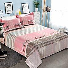 LINGZHIGAN Pink Stripe Cotton Thicker Bett Bettwäsche Single Piece 1.5m 1.8m Bett Herbst und Winter Einfache Bettwäsche Keep Warm ( größe : 200*230cm )