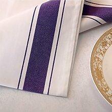 LINGZHIGAN Serviette Tuch Wiping Tuch Cup Mund Stoff Wasser Absorption Hotels Tuch Kunst Serviette Gingham Für das Abendessen Alltagsgebrauch 6 PCS / Set ( Farbe : D )
