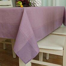 LINGZHIGAN Solid Color Fangma Wasserdichte Tischdecke Stoff Art Einfache rechteckige Tee-Tabelle Hochzeit Restaurant Party Tisch (Dieses Produkt verkauft nur Tischtücher) ( Farbe : A )