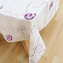 LINGZHIGAN Stickerei Blumen Tischdecke Stoff Kunst Einfache rechteckige Teetabelle Hochzeit Restaurant Party Tisch (Dieses Produkt verkauft nur Tischtücher) ( Farbe : A , größe : 135*300 )