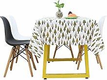 LINGZHIGAN Tischdecke Baumwolle Hanf Stoff Kunst Einfache rechteckige Teetabelle Hochzeit Restaurant Party Tisch (Dieses Produkt verkauft nur Tischtücher) ( größe : 140*140cm )