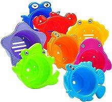 LinHut Nettes pädagogisches Spielzeug Bad stapeln