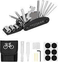 Linkax Fahrrad-Multitool 16 in 1 Werkzeuge für
