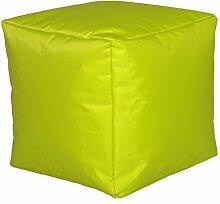 Linke Licardo Sitzwürfel für Außen und Innen, mit Nylonbezug, in vielen Farben, 40x40x40cm limone