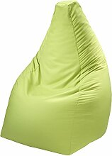 Linke Licardo - Trendiger Sitzsack aus Baumwolle - Grün - 90 cm hoch - Made in Germany