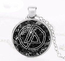 Linkin Park Schmuck Glas-Halskette Kuppel