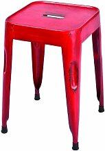 Links 85300202 Unikat Sitzhocker Set 4-teilig Design Hocker Metallhocker Metall Stühle rot NEU