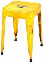Links 85300204 Unikat Sitzhocker Set 4-teilig Design Hocker Metallhocker Metall Stühle gelb NEU