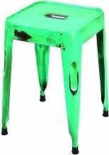 Links 85300206 Unikat Sitzhocker Set 4-teilig Design Hocker Metallhocker Metall Stühle türkis