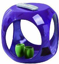 Links 99101030 Beistelltisch lila hochglanz Wohnzimmertisch Beistell Tisch Nachttisch Design