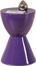 Links 99101220 Beistelltisch lila hochglanz Design Wohnzimmertisch Beistell Tisch Nachttisch