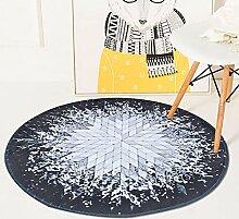 LINLIN Teppich Splash Ray Muster Runde Bodenmatte