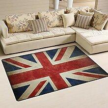 linomo Area Rug Teppich Jahrgang UK Flagge Union