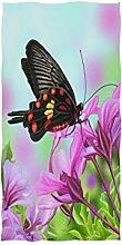 linomo Handtuch Blumen Schmetterling Blume