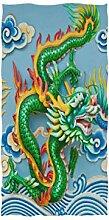 linomo Handtuch Ethnisch Chinesisch Drachen