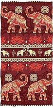 linomo Handtuch Ethnisch Elefant Stammes Handtuch