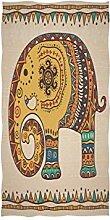 linomo Handtuch Ethnisch Indisch Elefant Handtuch