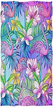 linomo Handtuch Flamingo Blätter Blume Handtuch