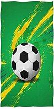 linomo Handtuch Fußball Ball Handtuch Baumwolle
