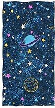 linomo Handtuch Galaxis Weltraum Bunt Planet