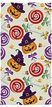 linomo Handtuch Halloween Kürbis Lutscher
