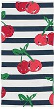 linomo Handtuch Kirsche Muster Handtuch Baumwolle