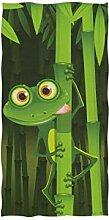 linomo Handtuch Lustig Frosch Grün Handtuch