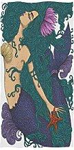 linomo Handtuch Meerjungfrauen-Handtuch Baumwolle