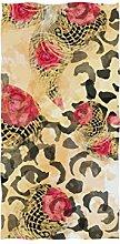 linomo Handtuch mit Leopardenmuster und