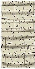 linomo Handtuch Musik Note Handtuch Baumwolle